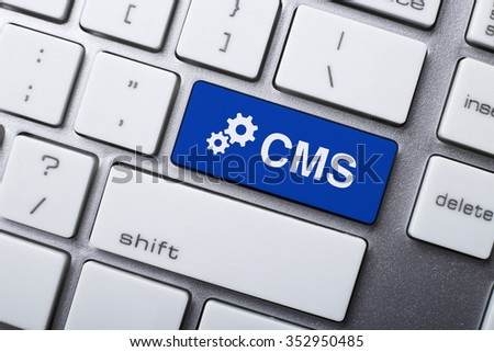 Closeup picture of CMS button of keyboard of a modern computer.