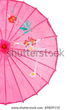 closeup pink asian umbrella - stock photo