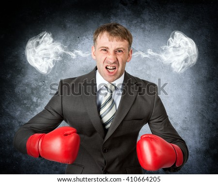 Closeup portrait angry man blowing steam coming out of ears