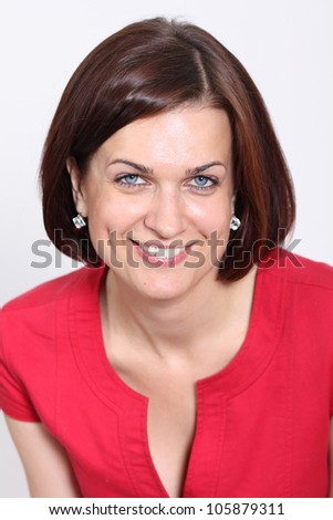 Closeup portrait of a beautiful woman - stock photo
