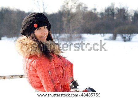 Closeup portrait of a beautiful woman outdoor