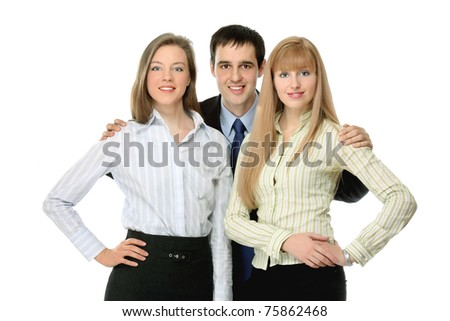 Closeup portrait of a business team