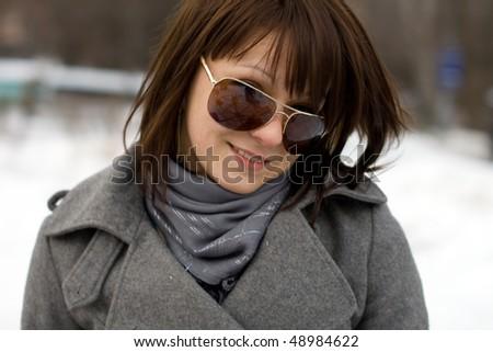 Closeup portrait of a girl - stock photo