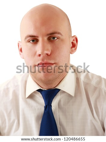 Closeup portrait of a successful businessman - stock photo
