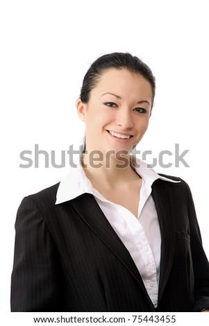 Closeup portrait of a successful businesswoman - stock photo