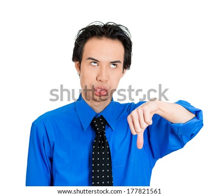Stock Photo Closeup Portrait Of Angry Mad Pissed Off Man Giving Thumbs Down And Tongue Out Gesture Looking Why Videoproc Is The Best