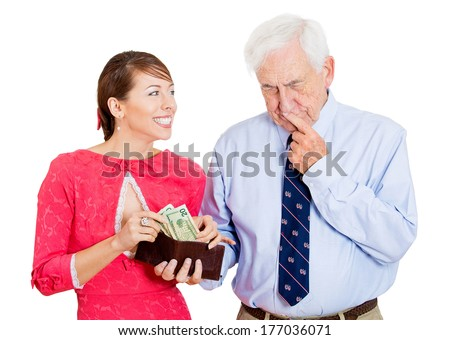 dating old man for money