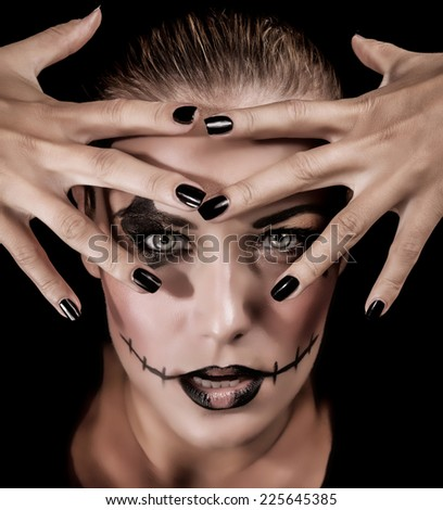 Creepy Zombi Make Up Stock Images Royalty-Free Images U0026 Vectors | Shutterstock