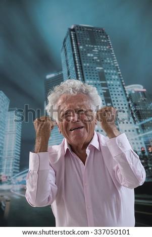 Closeup portrait, upset, senior  man - stock photo