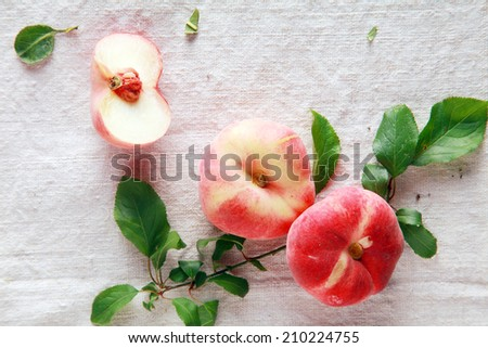 Closeup Ready to Eat Fresh Tasty Red Apple on Table. Common Fruit Doctors Advice. - stock photo