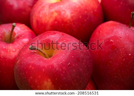 closeup red apples - stock photo