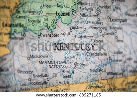 Kentucky Road Map Stock Images RoyaltyFree Images Vectors - Ky state map