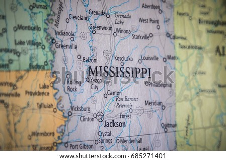 Mississippi Stock Images RoyaltyFree Images Vectors Shutterstock - Mississippi state map usa