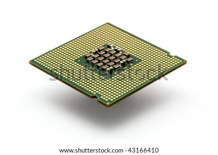 Closeup shot of a cpu processor