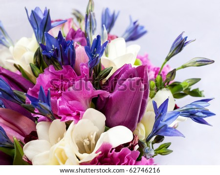 closeup shot of colorful bouquet - stock photo
