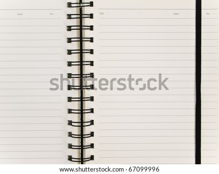 Closeup spiral notebook with elastic