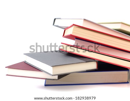 Closeup study textbooks - stock photo