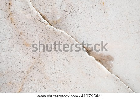 Closeup surface marble pattern at cracked marble floor texture background , cracked pattern at marble floor - stock photo