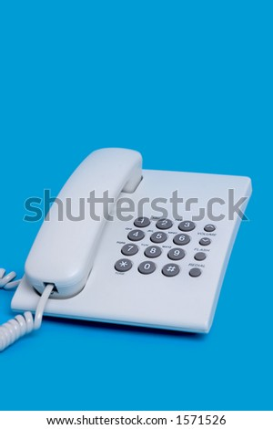 Closeup telephone - stock photo