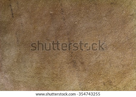 Closeup texture background of natural brown leather made of goat skin - stock photo