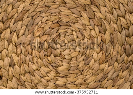 Closeup texture of brown wicker woven pattern for background - stock photo