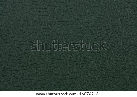 Closeup texture of dark green leather for background - stock photo