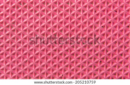Closeup texture of rough pink foam - stock photo
