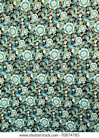 Closeup texture of thai style fabric weave - stock photo