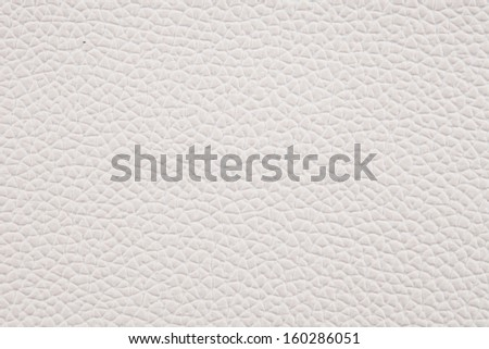 Closeup texture of white leather for background - stock photo