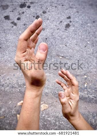 closeup human hand posing reach action stock photo royalty free
