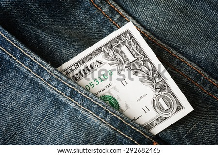 closeup The United States of America Dollar (US Dollars)  - stock photo