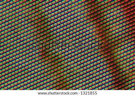 closeup TV screen - stock photo
