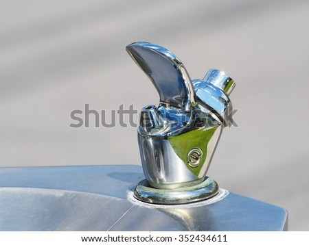 Closeup view of a drinkable public water fountain - stock photo