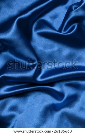closeup view of blue satin perfect for abstract background. Part of a series - stock photo
