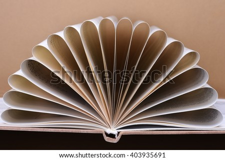 Closeup view of book pages, copy space for text - stock photo
