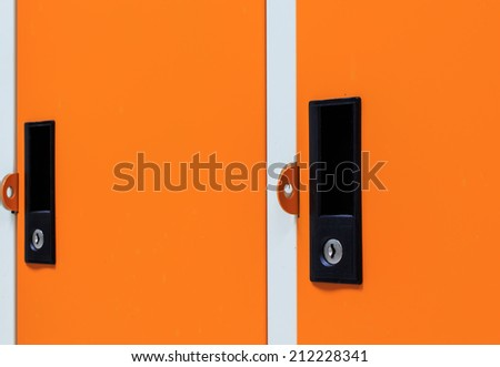 Closeup View of Lockers. - stock photo
