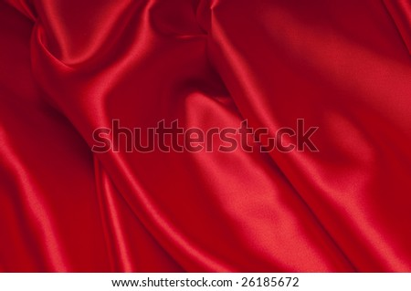 closeup view of red satin perfect for abstract background. Part of a series - stock photo