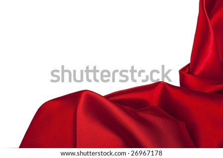 closeup view of red satin perfect for abstract background, with copyspace for text.  Part of a series