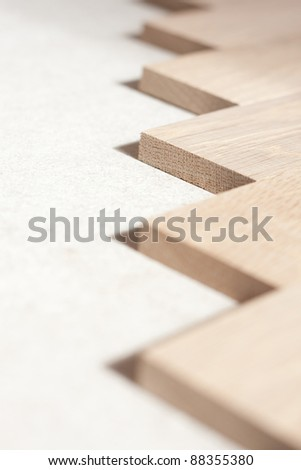 closeup-view of the front-side of parquet-wood/wood in a closeup-view