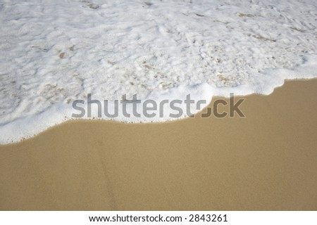 closeup view of the shoreline - stock photo