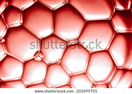 closeup view on red bubbles - stock photo
