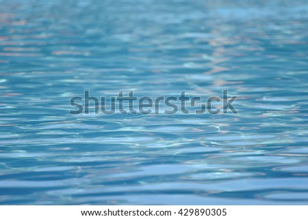 Closeup water in swimming pool, Selective shallow dept of field