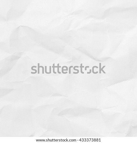 Closeup white crumpled paper texture or white crumpled paper background. White paper sheet for design with copy space for text or image. - stock photo