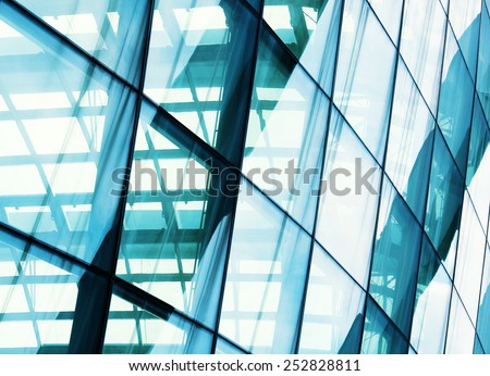closeup window glass building - stock photo