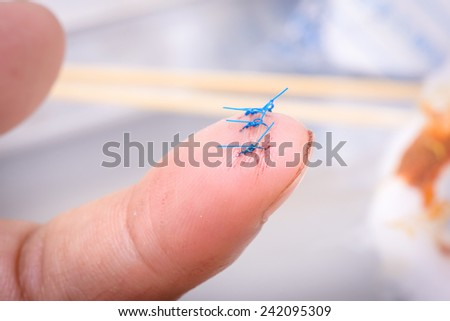 closeup wound with surgical stitch - stock photo