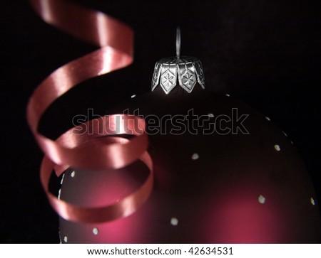 Closeup xmas decoration - stock photo