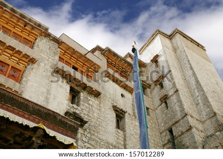 Closure look at Leh Palace