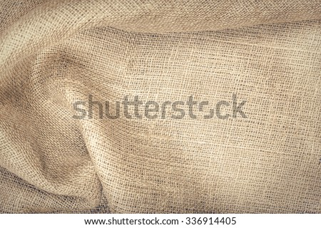 Cloth a sacking. Texture to host your image or text. - stock photo
