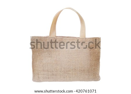 Cloth bag isolated on a white background, Clipping path
