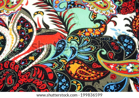 cloth decorated various colorful patterns - stock photo